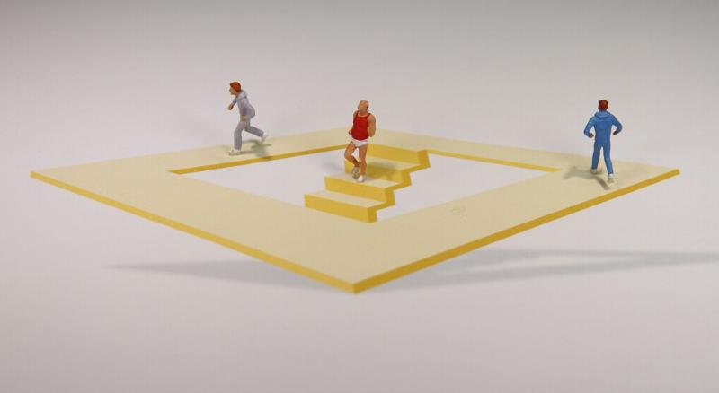 optische illusie trap