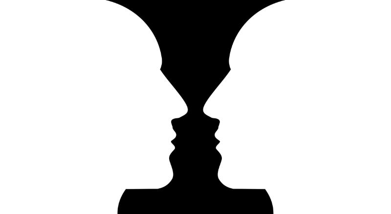 optische illusie gezicht